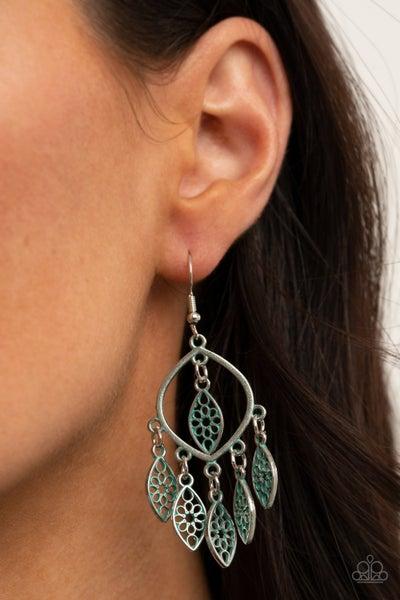 Artisan Garden - Silver Patina finish Earrings
