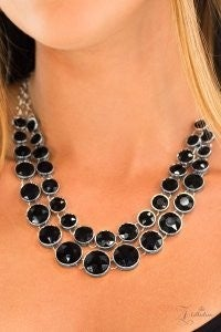 Iconic – Zi Collection – Paparazzi Black Faceted Bead Layered Statement Necklace