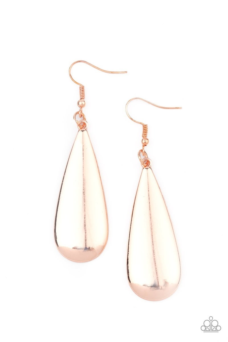 The Drop Off - Rose Gold & Rose Gold Moonstone Earrings