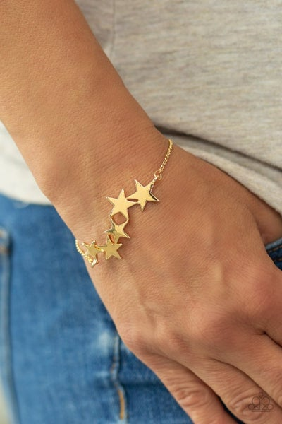 All-Star Shimmer - Gold with Gold Stars Bracelet