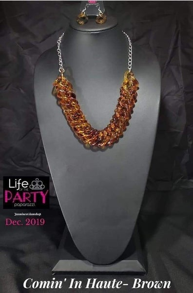 Comin In HAUTE - Brown - Tortoise Shell Acrylic - Necklace - Life of the Party Exclusive December 2019