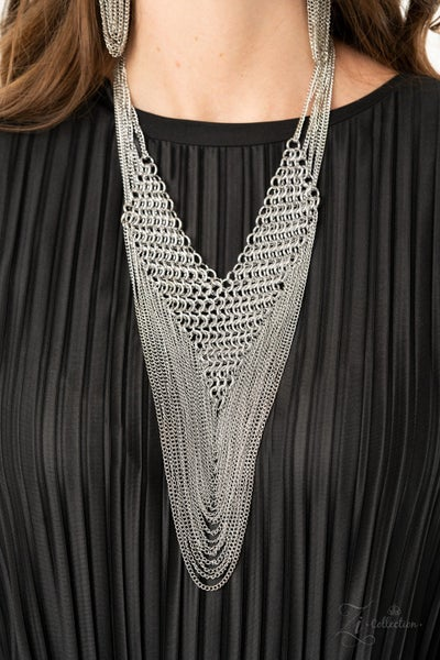 Pre-Order Defiant - Layerd Mesh of Silver Chains Necklace - 2020 Zi Collection