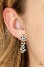 Heartthrob Twinkle - Brass Post Earrings