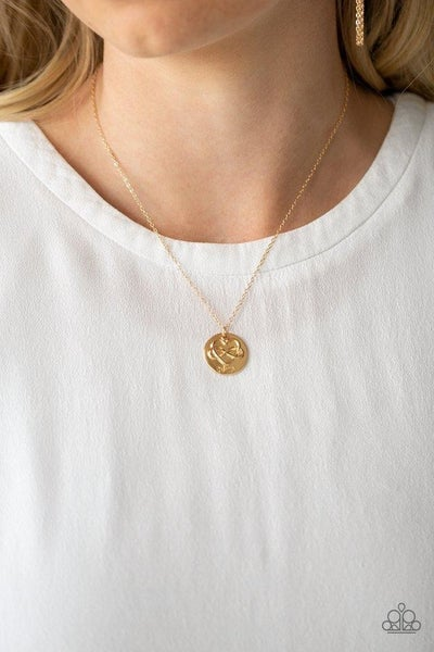 Home Is Where Mom Is - Gold with an infinity heart & Mom stamped Charm Necklace & Earrings