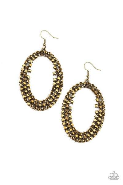 Radical Razzle - Brass Earrings