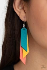 Suede Shade - Multi-Color Leather Earrings