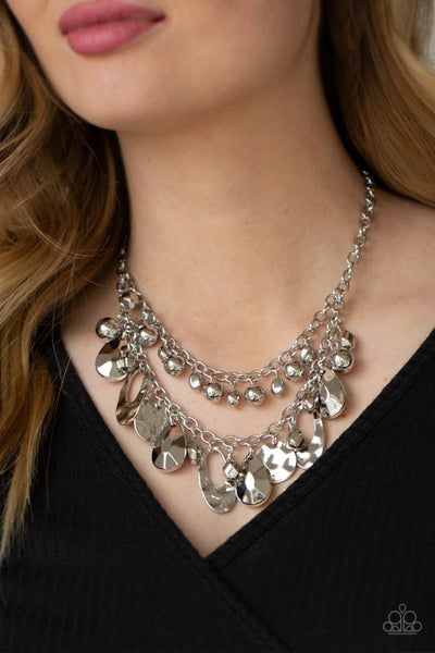 Pre-Order Extra Exhilarating - Silver hammered or faceted Teardrop Beads Necklace & Earrings