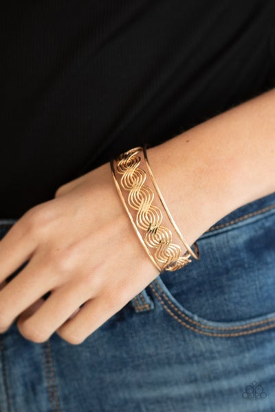 WEAVE An Impression - Gold weave Cuff Bracelet