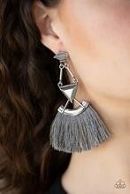 Puma Prowl - Silver Post Earrings
