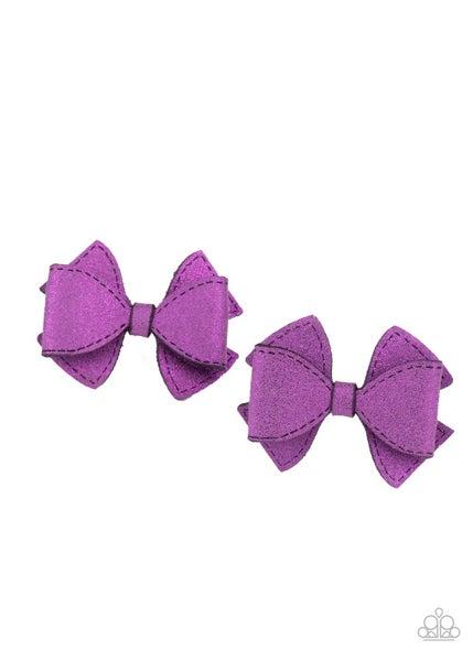 Dont BOW It - Purple Glitter Bows