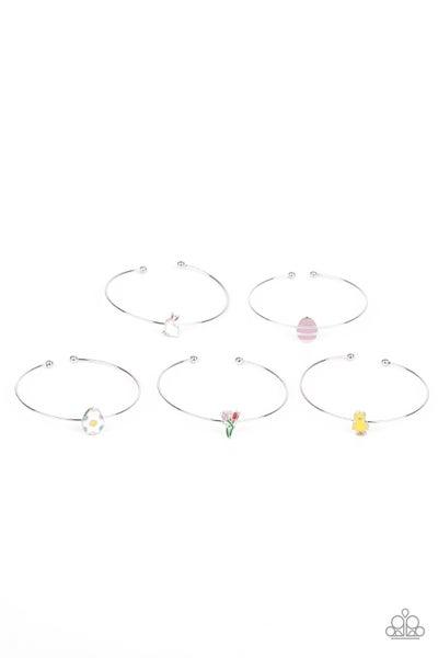 Assorted Colors & Spring/Easter pendant Cuff Bracelet