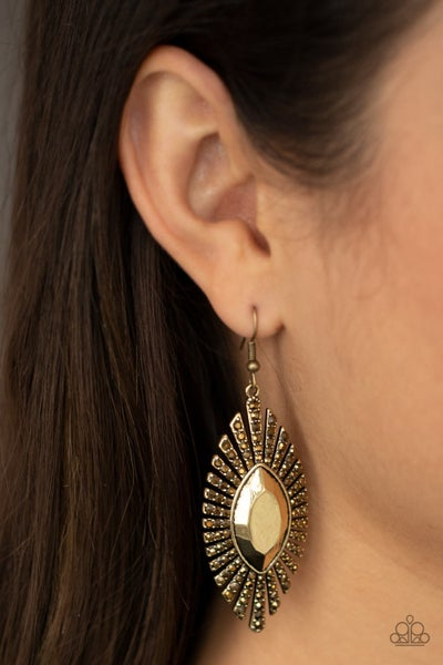 Pre-Sale Who Is The FIERCEST Of Them All - Brass with aurun rhinestones Earrings