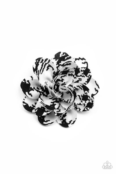 Patterned Paradise - White & Black Hair Bow