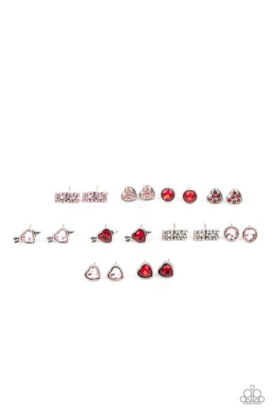 Pre-Sale - Five pairs of Assorted Valentine's Day Kid's Earrings