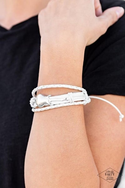 Lead Guitar - White Urban Bracelet - Life of the Party Exclusive