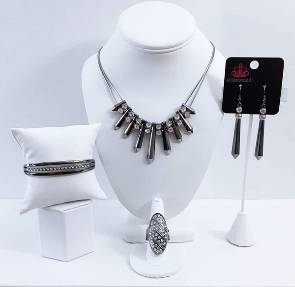 Magnificent Musings - Gunmetal with white Rhinestones - May 2021 Fashion Fix Set
