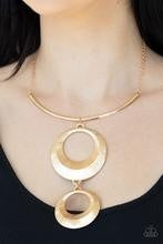 Egyptian Eclipse - Gold Statement Necklace and Earrings