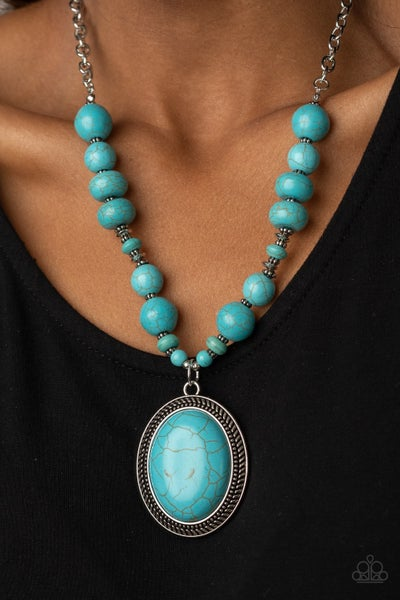 Home Sweet HOMESTEAD - Silver with collection of Turquoise Stones Necklace & Earrings