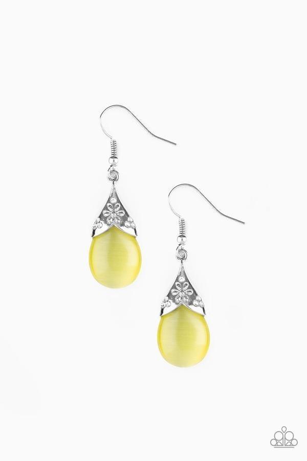 Spring Dew - Yellow Moonstone Earrings