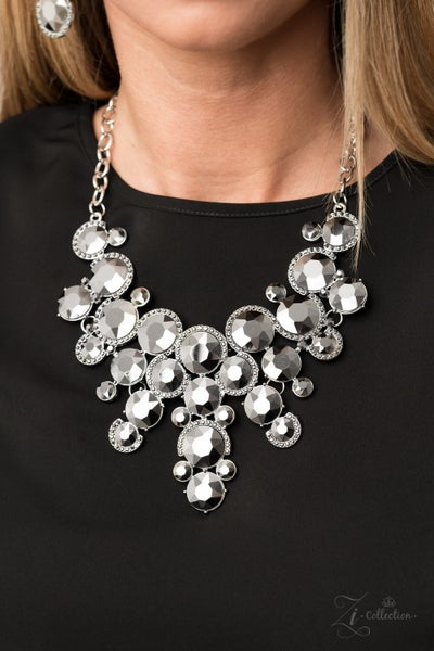 Fierce - Clusters of Hematite Rhinestones Necklace & Earrings - 2020 Zi Collection