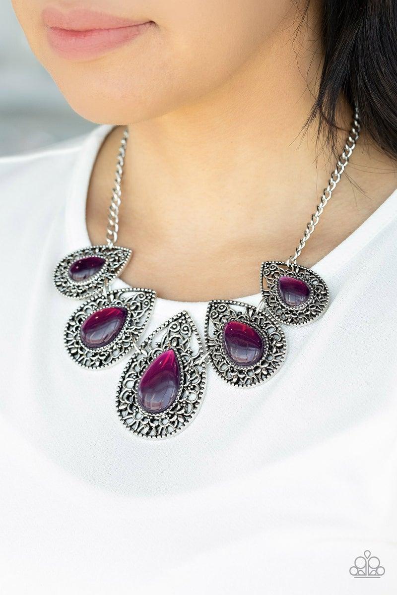 Pre-Sale Opal Auras - Purple Moonstone Necklace