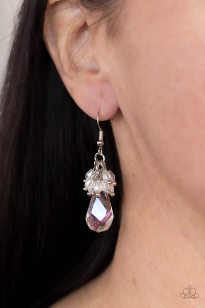 Pre-Sale Well Versed in Sparkle - Iridescnet White Teardrop Earrings