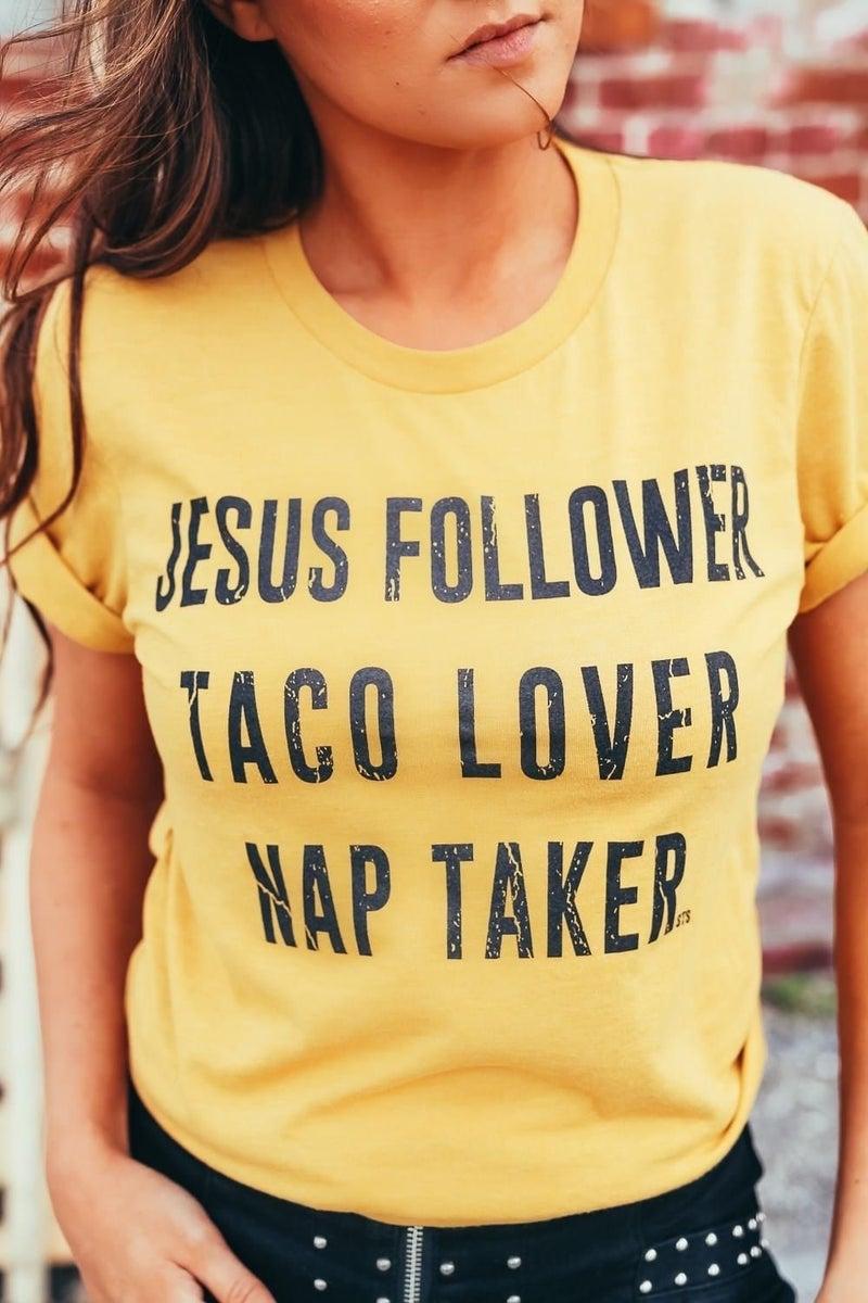 Jesus, Taco, Nap Lover Top