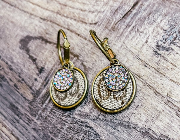 DESIGNER UPCYCLE BLING EARRINGS