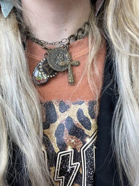 Saint Christopher Upcycled necklace