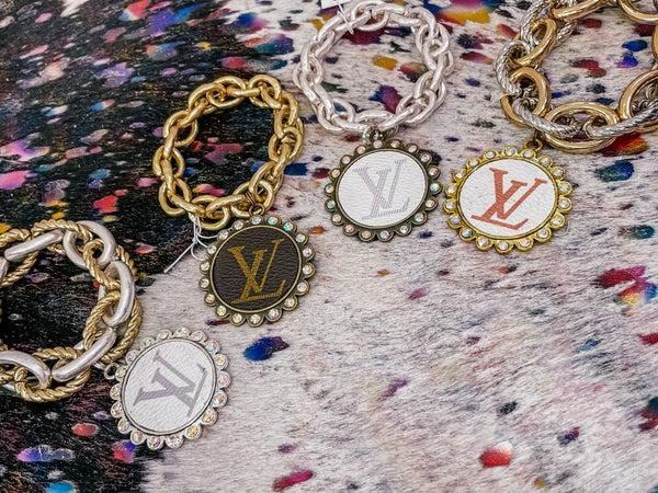 Stretchy Chain Linked Louis Vuitton Bracelet