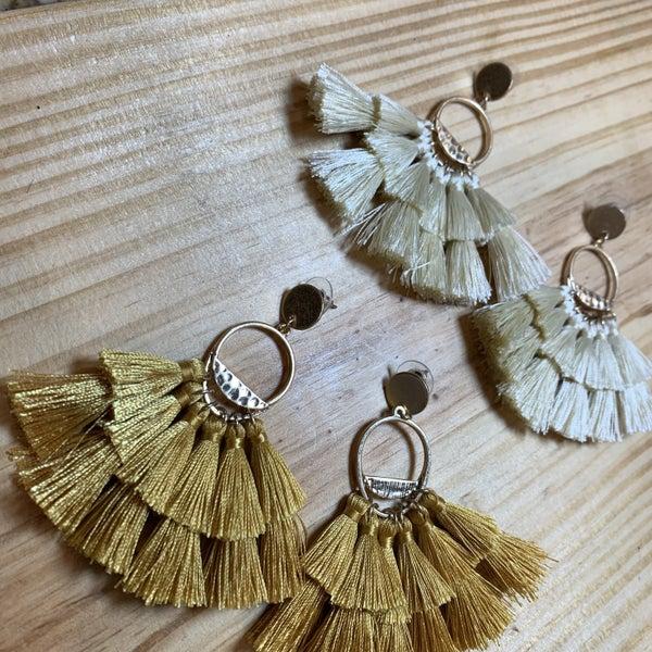 Hammered Fringe Earrings