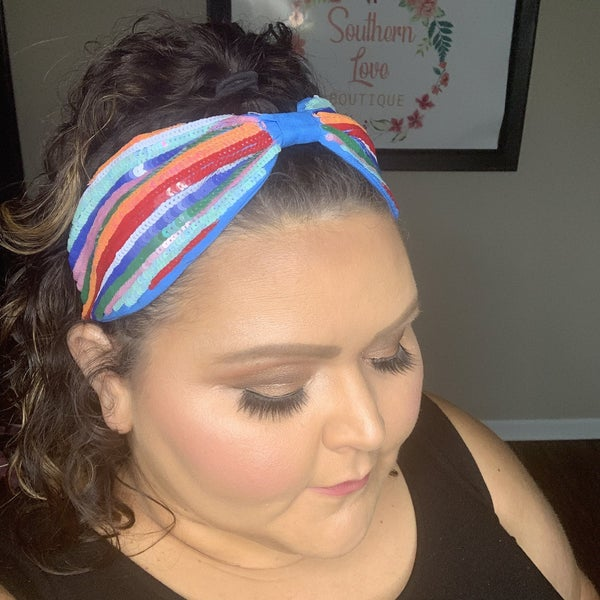 Sequin Rainbow Headband