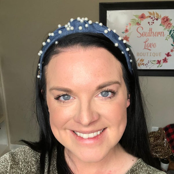 Pearl & Denim Headband
