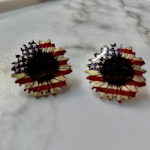 Sunflower Flag Earrings