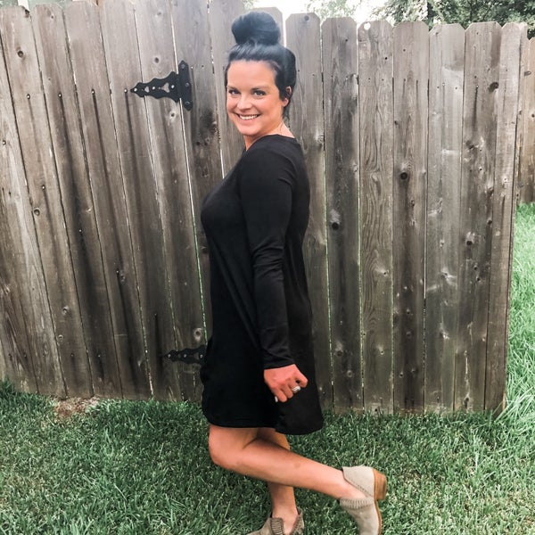 Black Long Sleeve Flowy Dress
