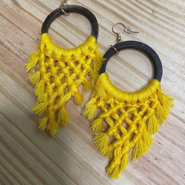 Crochet Wooden Earrings