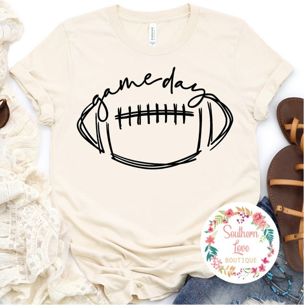 """Football """"Game Day"""" Graphic Tee Preorder"""