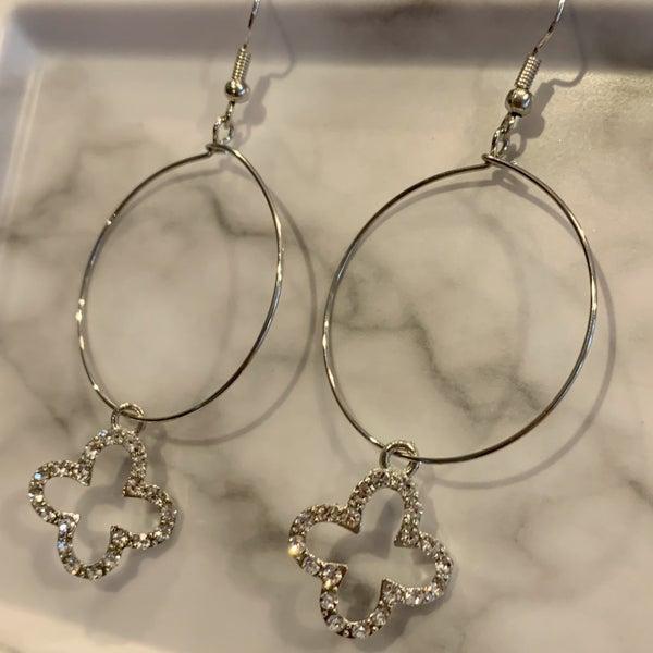 Clover Hoop Earrings