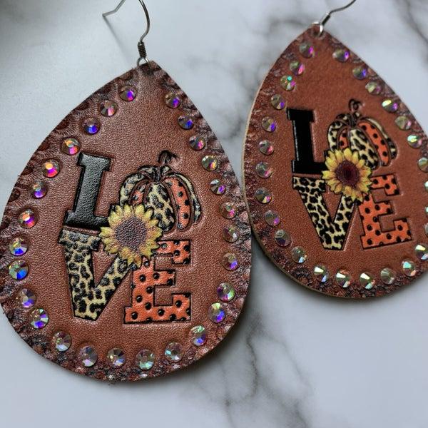 """""""Love"""" Fall Earrings"""