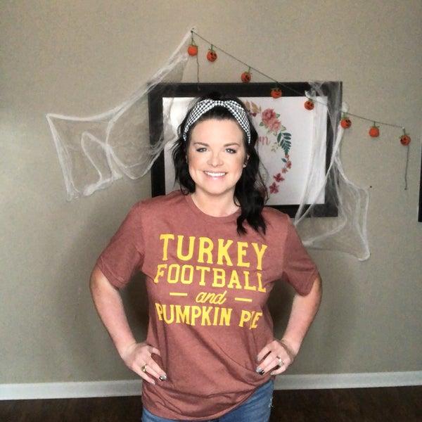 """Turkey Football and Pumpkin Pie"" Graphic Tee"