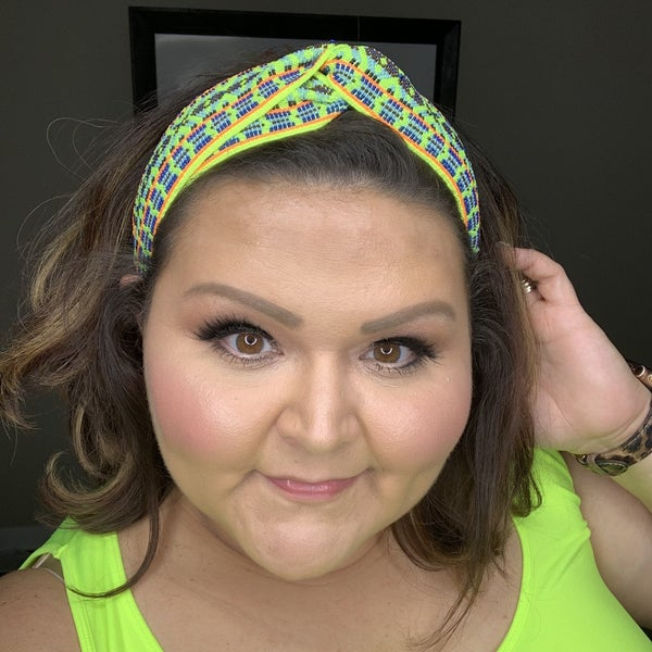 Neon Embroidered Headband