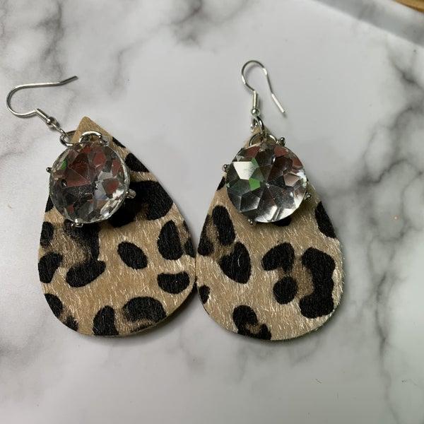 Leopard Bling Earrings