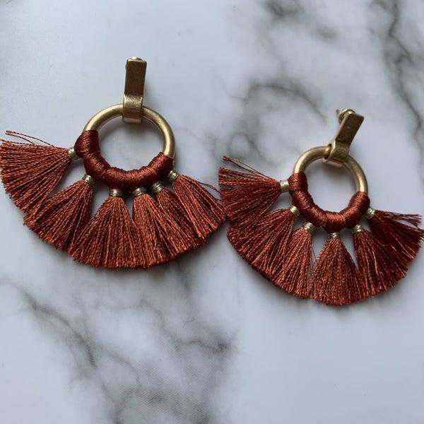 Rust Fringe Earrings