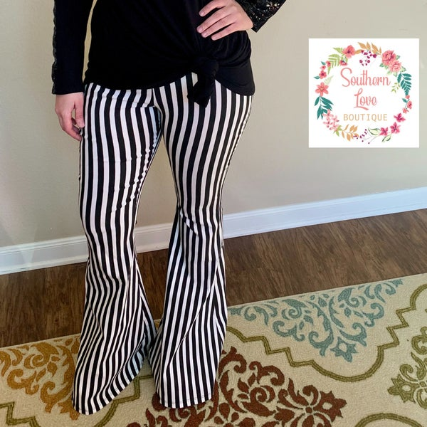 Striped Bell Bottoms *Final Sale*