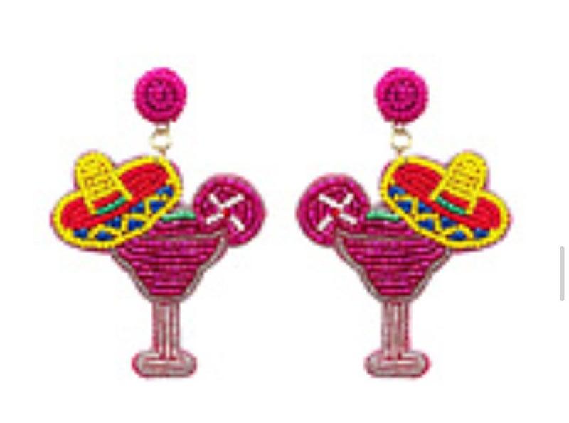 Margarita Dangle Beaded Earrings