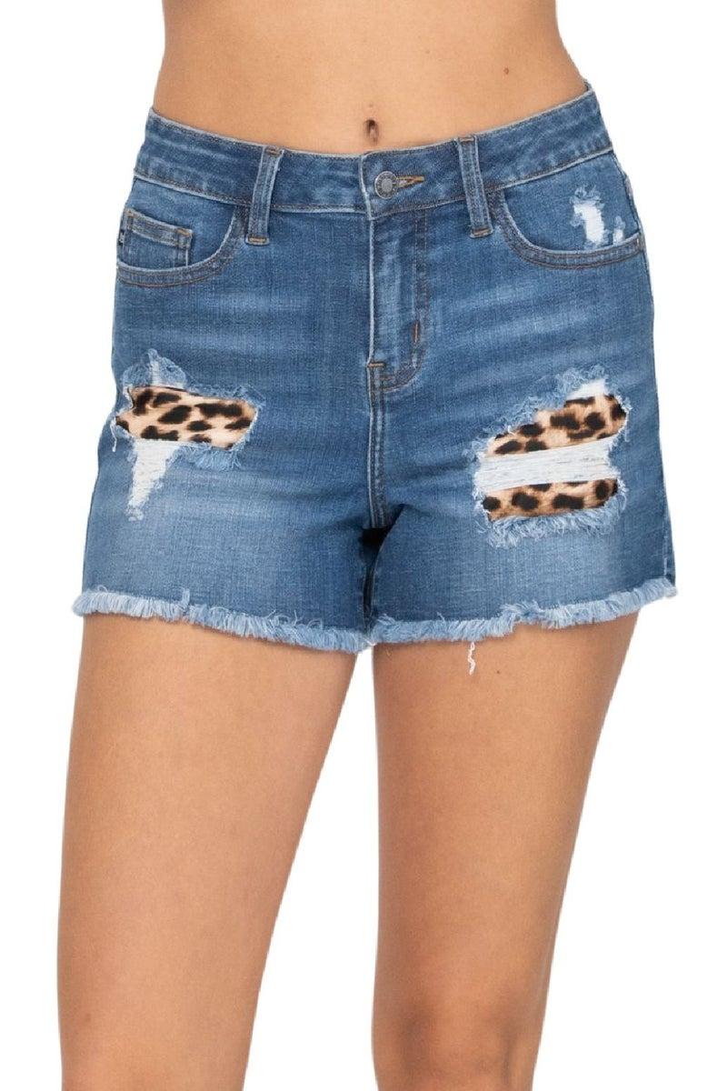 Oh Judy Leopard Patch Shorts S-XL *Final Sale*