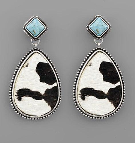 Cow hide Earrings