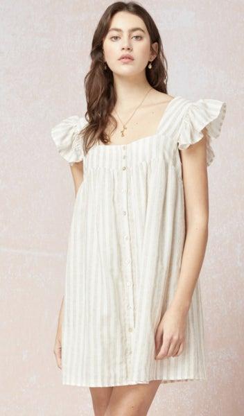 In Good Faith Ruffle Sleeve Dress