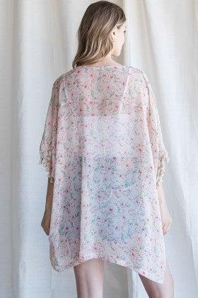 Floral Chiffon Tassel Cardigan *Final Sale*