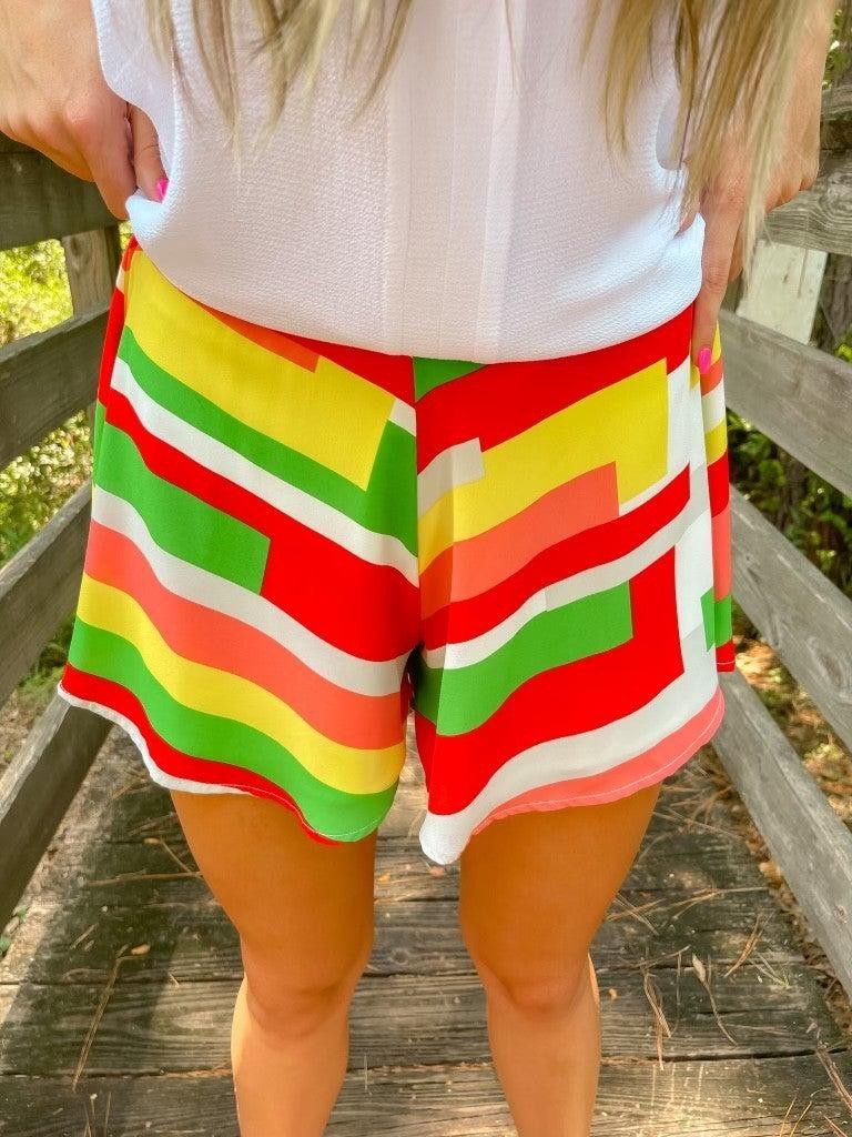 Color Block Swing Shorts